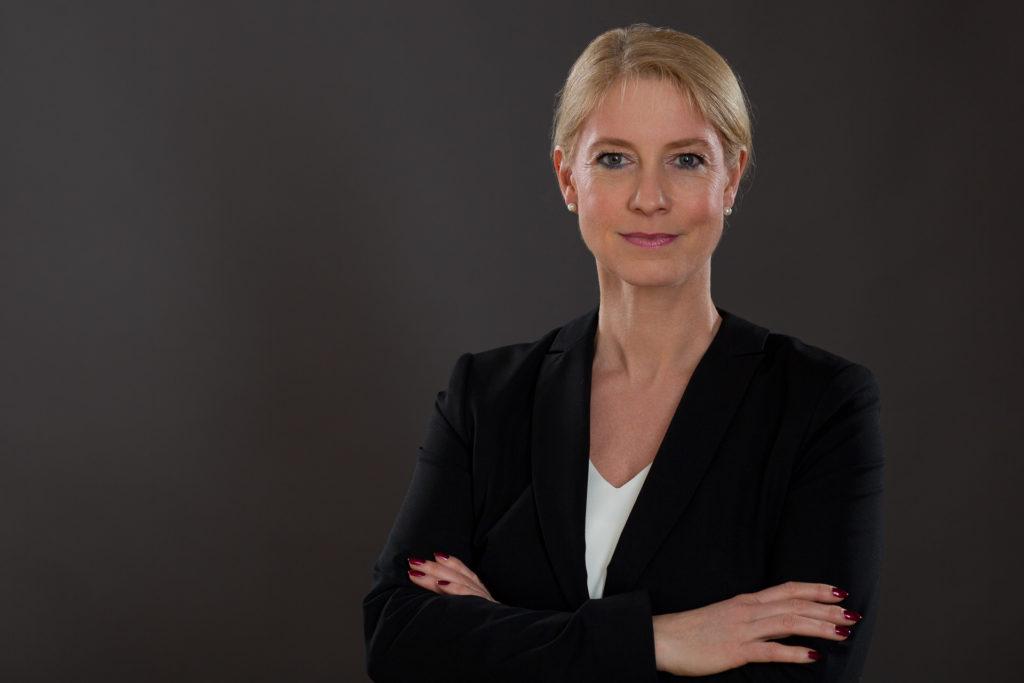 Business-Foto blonde Frau.